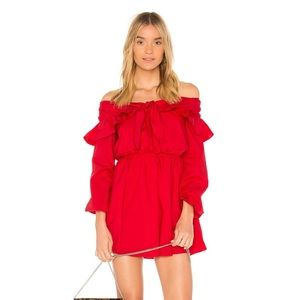 The Lovers + Friends  Rebecca Dress, Size S, Red